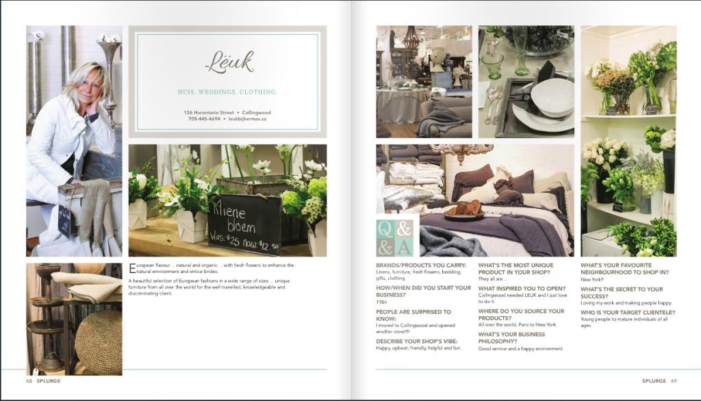 Leuk Shop in Collingwood Featured in Splurge Magazine